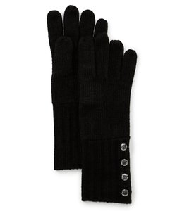 Michael Kors NWT MICHAEL KORS BUTTON DETAILED GLOVES BLACK ONE SIZE 537586