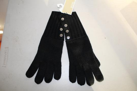 Michael Kors NWT MICHAEL KORS BUTTON DETAILED GLOVES BLACK ONE SIZE 537586 Image 1