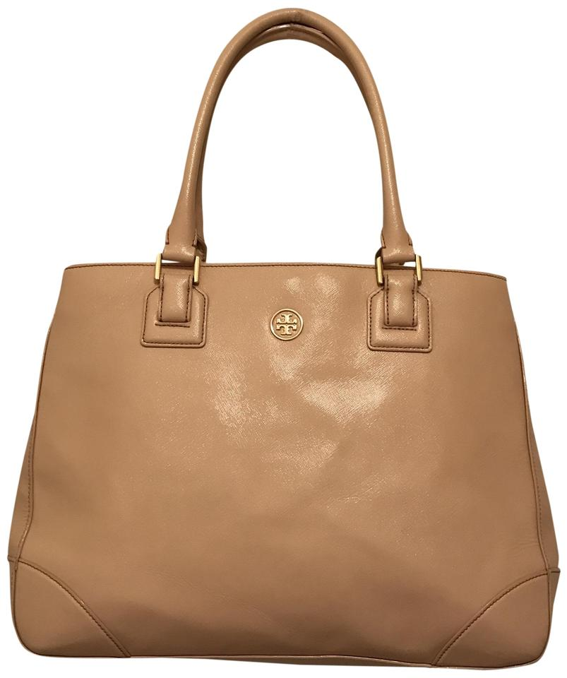 f31ba456e495 Tory Burch Robinson Large East West Saffiano Pink Gold Leather Tote ...