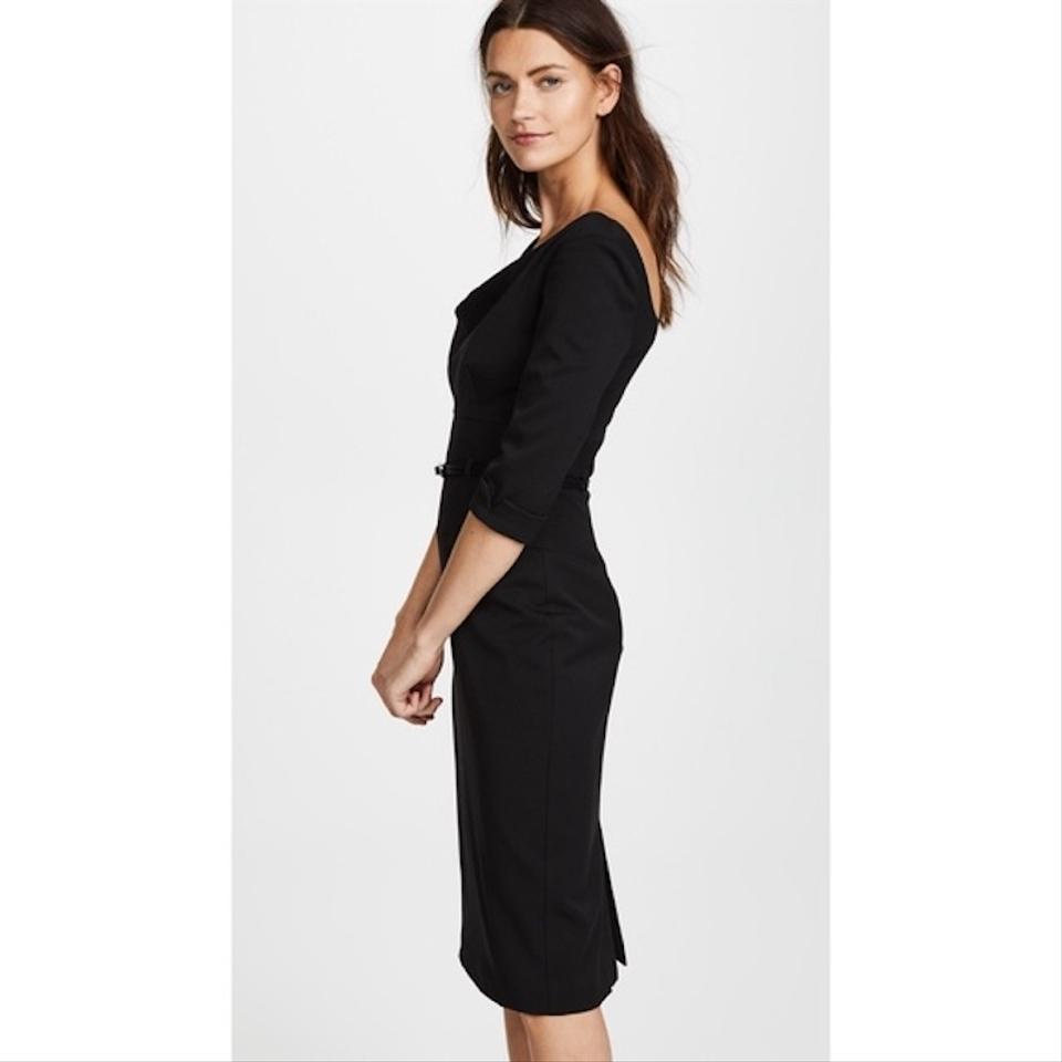 2addc9d05c1 Black Halo 3 4 Sleeve Jackie O Belted Mid-length Cocktail Dress Size ...