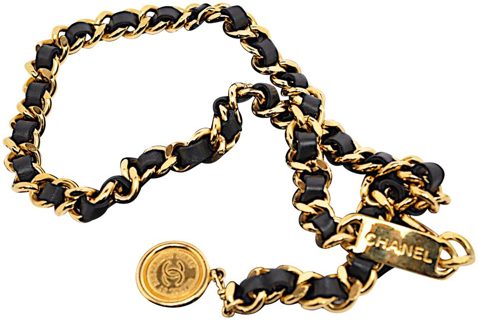 afb916f44b6c0f Chanel CHANEL VINTAGE BELT France Medallion CC Logo Coin Gold Chain Leather  Image 0 ...