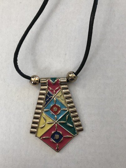 unknown Tribal Inspired Pendant Cord Necklace Set/ Image 3