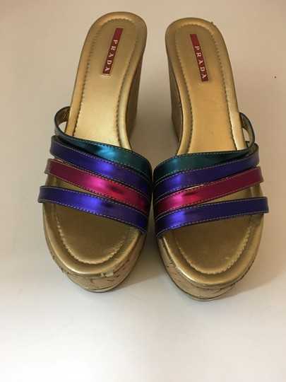 Prada Strappy Buckle Jimmy Choo MULTICOLOR Wedges Image 1