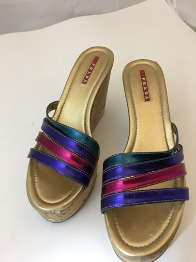 Prada Strappy Buckle Jimmy Choo MULTICOLOR Wedges Image 2