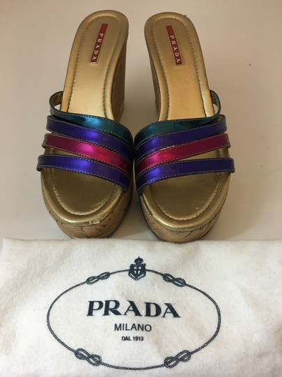 Prada Strappy Buckle Jimmy Choo MULTICOLOR Wedges Image 9