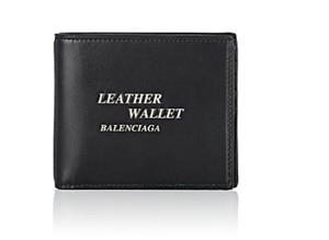 Balenciaga Black Leather Wallet Wallet