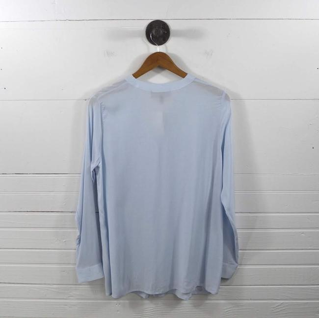 veronique Fall Winter Maternity Casual Date Night Top BLUE Image 2