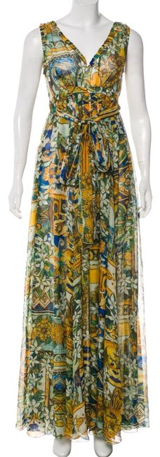 Preload https://img-static.tradesy.com/item/24503730/dolce-and-gabbana-print-floral-dolce-and-gabbana-silk-long-casual-maxi-dress-size-2-xs-0-1-650-650.jpg