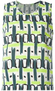 Paul Smith Print Tank Top LEMON GREEN NUDE BLACK