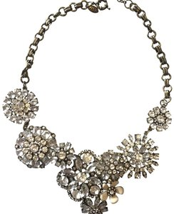 Ily Statement Crystal Flower Necklace