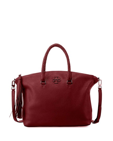 Tory Burch Satchel in Imperial Garnet Image 0