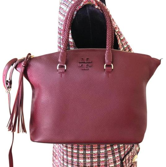Tory Burch Satchel in Imperial Garnet Image 1