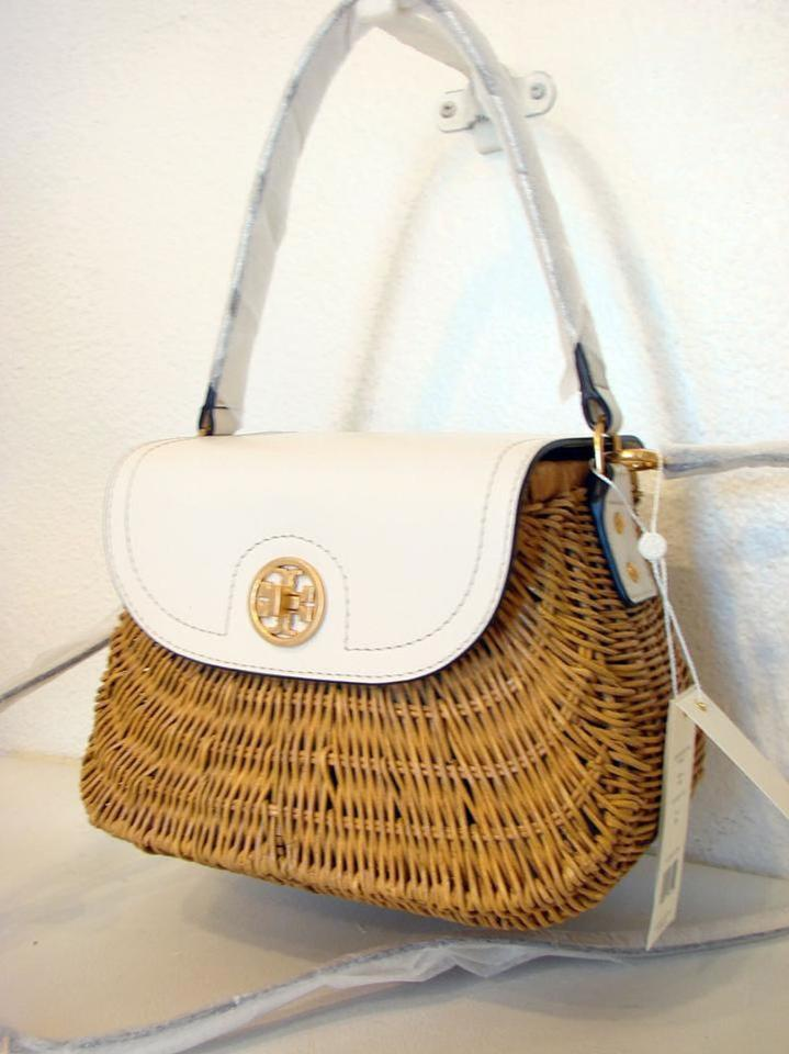 97420141c64 Tory Burch Rattan Lacquered Wicker Basket Crossbody Ivory Natural ...