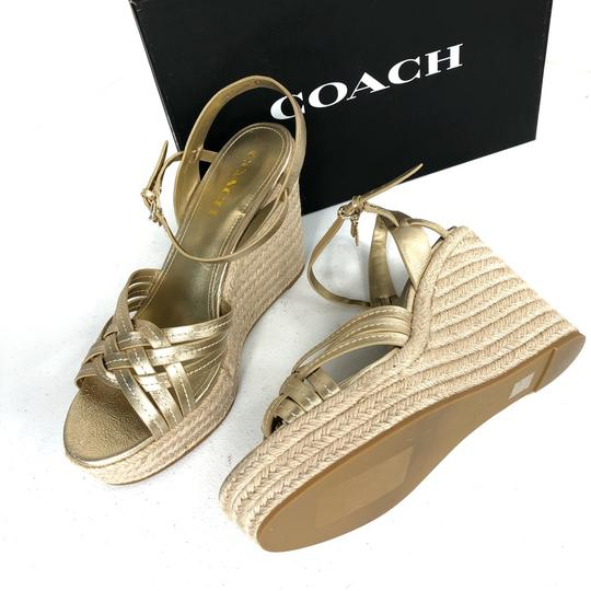 Coach Gold Wedges Image 1