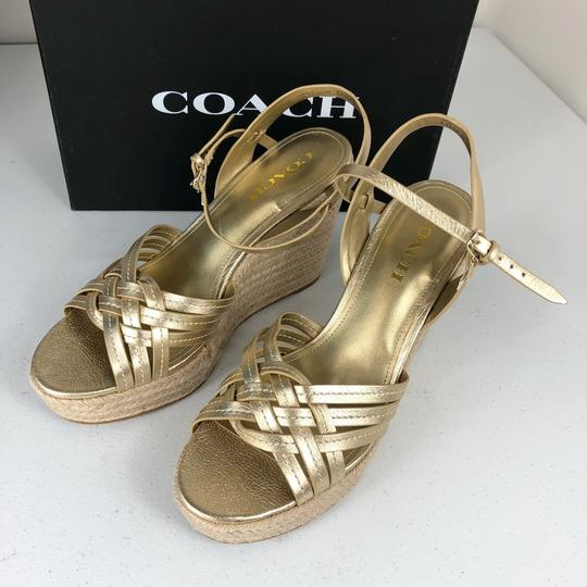 Coach Gold Wedges Image 2