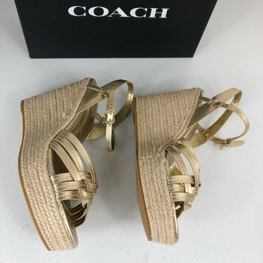 Coach Gold Wedges Image 4