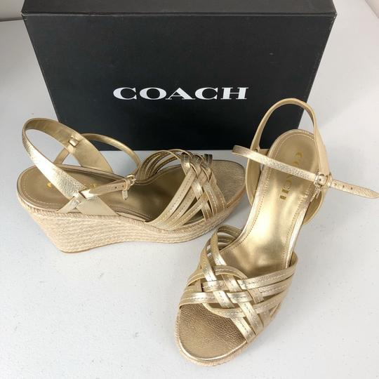 Coach Gold Wedges Image 8