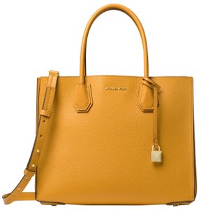 00f561fdd42ad7 Michael Kors Leather 30f8gm9t3t Tote in Marigold. Michael Kors Mercer Large  Pebbled Accordion ...