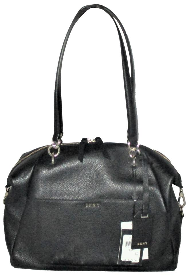 bacc37c1c4da DKNY Chelsea Large Satchel Created For Macys Tote Crossbody Black Pebble  Leather Shoulder Bag