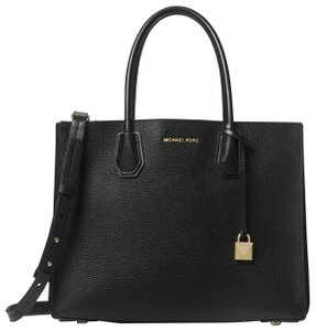 Michael Kors Leather 30f8gm9t3t Tote in Black