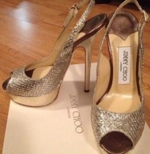Jimmy Choo Silver and Gold Size US 6 Regular (M, B)