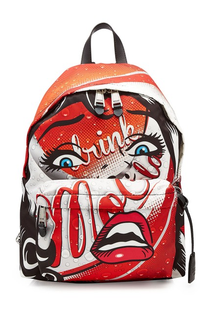 Item - Printed Fabric Multi Color Nylon Backpack