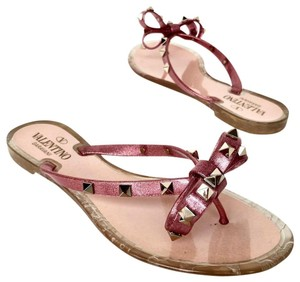 8a73cea16bae EU 36 (Approx. US 6). Valentino Flats Bow Jelly Flip Flops Pink Sandals