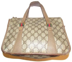 630c2fa6d349 Gucci Removable Strap Excellent Vintage Red Green Speedy Cc Leather Satchel  in brown large