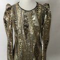 Marciano Black Gold Silver Sequin Party Short Night Out Dress Size 4 (S) Marciano Black Gold Silver Sequin Party Short Night Out Dress Size 4 (S) Image 6