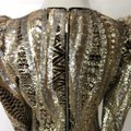 Marciano Black Gold Silver Sequin Party Short Night Out Dress Size 4 (S) Marciano Black Gold Silver Sequin Party Short Night Out Dress Size 4 (S) Image 9