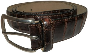 Brioni Brioni Men's Brown Crocodile Leather Belt