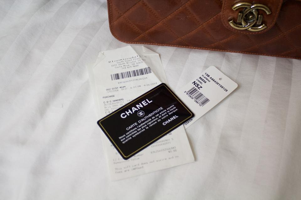 f909c9da Chanel Classic Flap Quilted Perfect Edge Light Brown Glazed Calfskin  Shoulder Bag