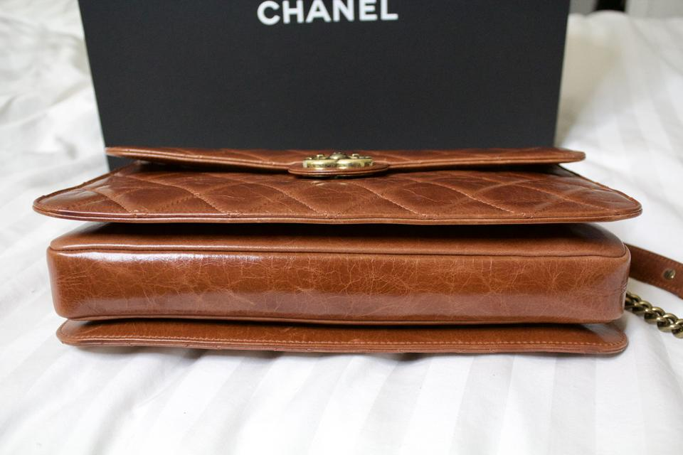 a2748230c299 Chanel Classic Flap Quilted Perfect Edge Light Brown Glazed Calfskin ...