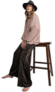 Easel Wide Leg Pants Ash