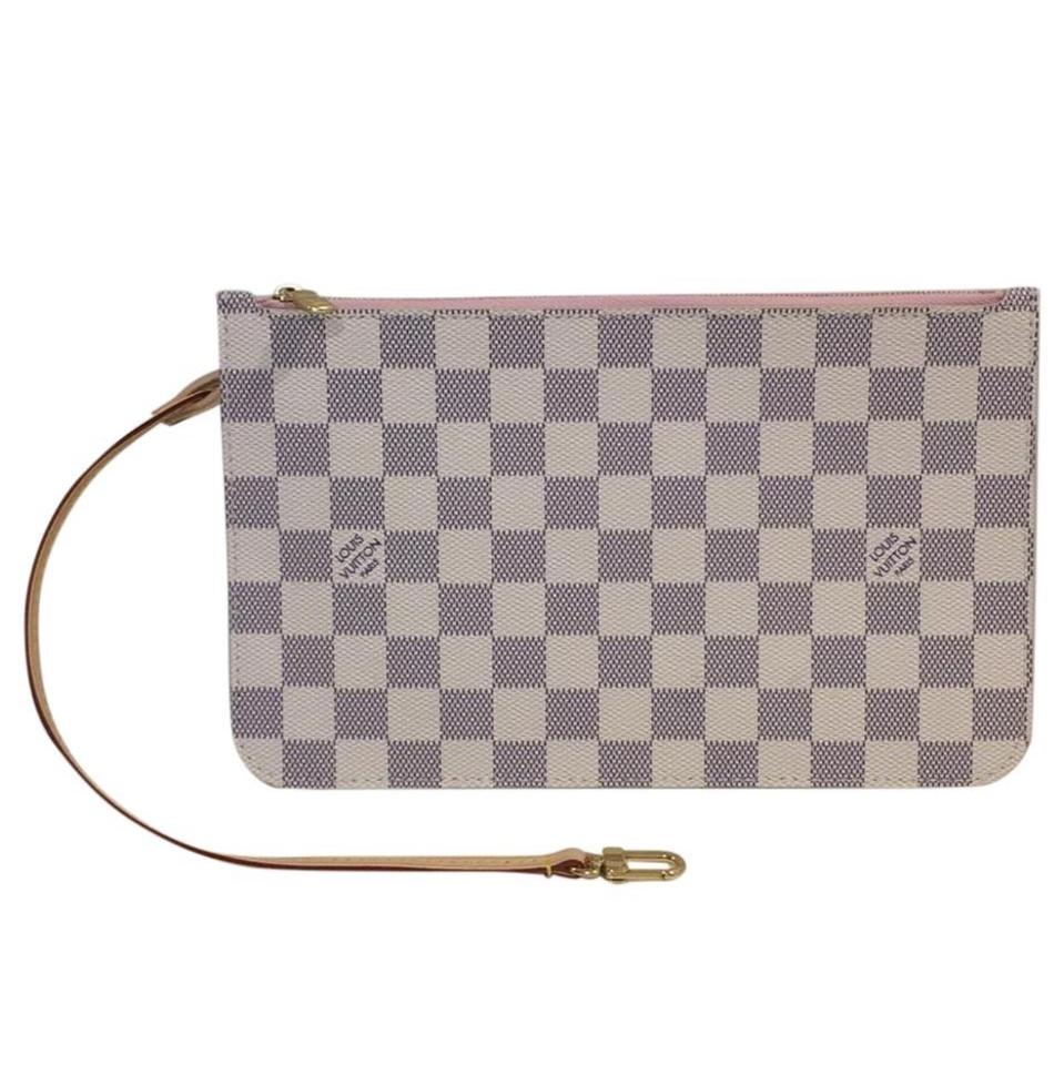8fb9af2972338 Louis Vuitton Neverfull Neverfull Neverfull Pouch Neverfull Wristlet Neverfull  Pochette Damier Azur Clutch Image 0 ...