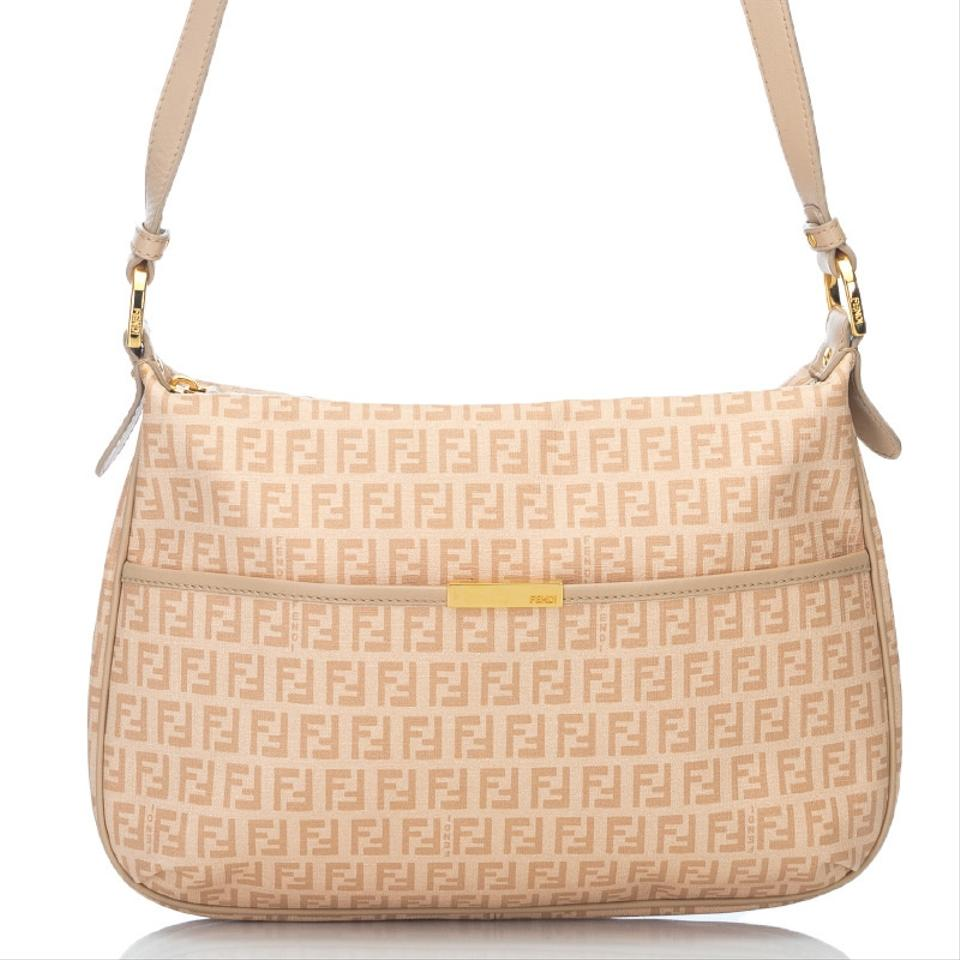 Fendi Zucchino Jacquard Crossbody Pink Canvas Shoulder Bag - Tradesy 2100b8c7f7c9a