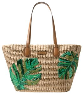 Michael Kors Corn Husk Nat/Palm 30s8gmbt7w Tote in Nat/palm