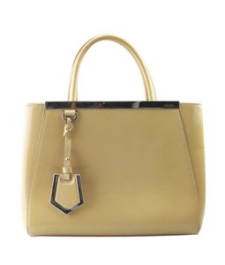 Fendi Leather Pre-owned Lining: Fabric Silver-tone Satchel in Yellow