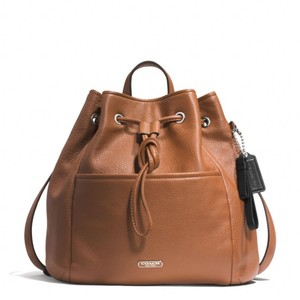 Coach Leather Drawstring 29895 Backpack