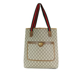 Gucci Vintage Supreme Red And Green Tote in GG canvas