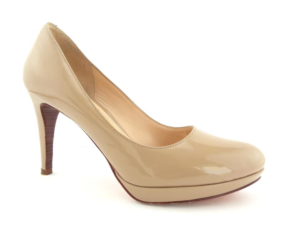 cdd61cf799d Cole Haan Beige Nude Patent Leather Nike Air Platform Pumps Size US ...