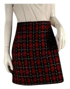 Boston Proper Mini Skirt Red