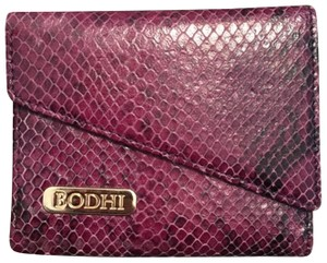 Bodhi Snakeskin Print Pebbled Leather Tri-Fold Wallet