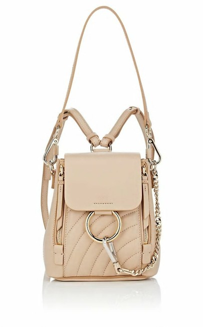 Item - Faye Mini Quilted Pearl Beige Leather Backpack