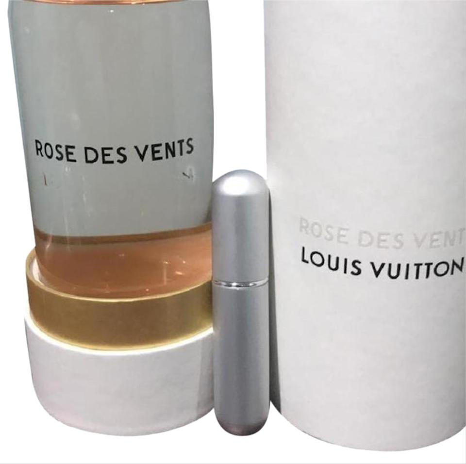 Louis Vuitton Silver Rose Des Vents Perfume 5ml Purse