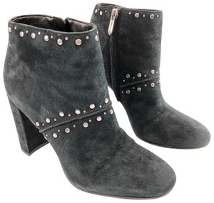 Sam Edelman Studded Suede Leather Ankle Black Boots