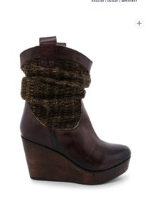 Bed|Stü Wedge Leather black brown Boots