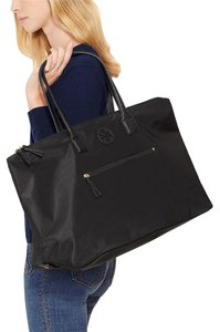 Tory Burch Tote Leather Chain Marion Black Travel Bag