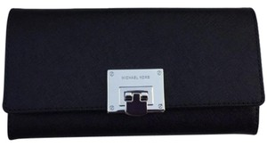 Michael Kors Tina Carryall Saffiano Leather Clutch Wallet