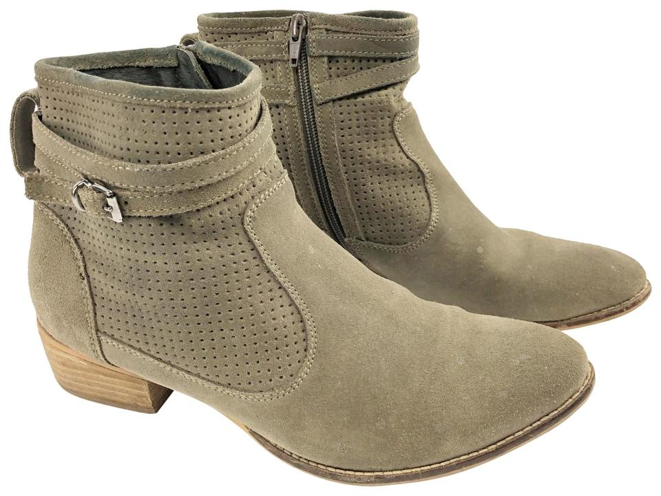 539891dee76f Seychelles Taupe Sanctuary Perforated Wrap Distressed Boots Booties ...